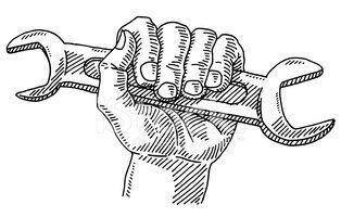 50178358-work-symbol-hand-wrench-drawing